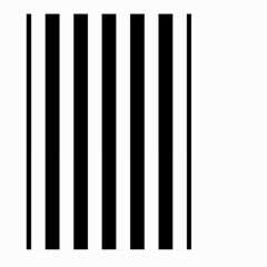 Black And White Stripes Large Garden Flag (two Sides) by designworld65