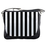 Black And White Stripes Messenger Bags Front