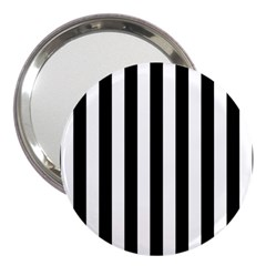 Black And White Stripes 3  Handbag Mirrors