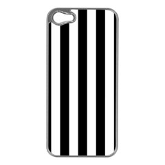 Black And White Stripes Apple Iphone 5 Case (silver) by designworld65