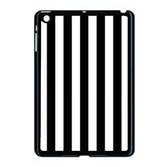 Black And White Stripes Apple Ipad Mini Case (black) by designworld65