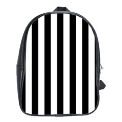 Black And White Stripes School Bag (xl)