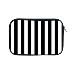 Black And White Stripes Apple Ipad Mini Zipper Cases by designworld65