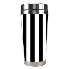 Black And White Stripes Stainless Steel Travel Tumblers by designworld65
