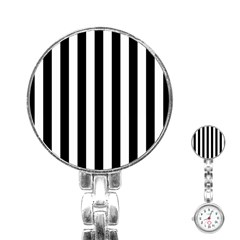 Black And White Stripes Stainless Steel Nurses Watch