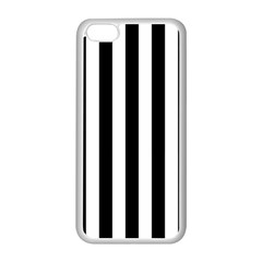 Black And White Stripes Apple Iphone 5c Seamless Case (white) by designworld65