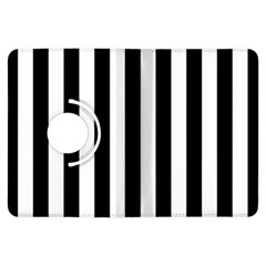 Black And White Stripes Kindle Fire Hdx Flip 360 Case by designworld65