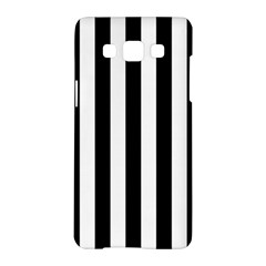 Black And White Stripes Samsung Galaxy A5 Hardshell Case  by designworld65