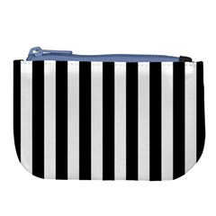 Black And White Stripes Large Coin Purse by designworld65