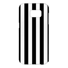 Black And White Stripes Samsung Galaxy S7 Edge Hardshell Case