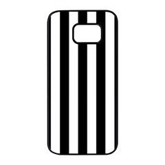 Black And White Stripes Samsung Galaxy S7 Edge Black Seamless Case