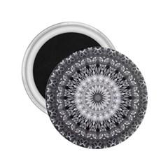 Feeling Softly Black White Mandala 2 25  Magnets by designworld65