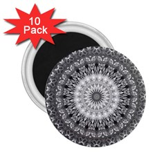 Feeling Softly Black White Mandala 2 25  Magnets (10 Pack)  by designworld65