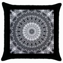 Feeling Softly Black White Mandala Throw Pillow Case (black) by designworld65