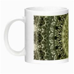 Feeling Softly Black White Mandala Night Luminous Mugs by designworld65