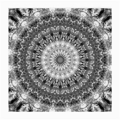 Feeling Softly Black White Mandala Medium Glasses Cloth (2 Side) by designworld65