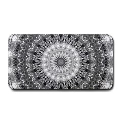 Feeling Softly Black White Mandala Medium Bar Mats by designworld65