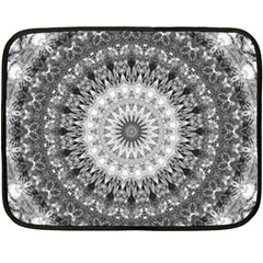 Feeling Softly Black White Mandala Fleece Blanket (mini) by designworld65