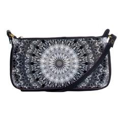 Feeling Softly Black White Mandala Shoulder Clutch Bags by designworld65
