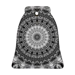 Feeling Softly Black White Mandala Bell Ornament (two Sides) by designworld65