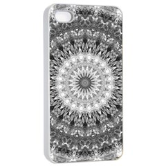 Feeling Softly Black White Mandala Apple Iphone 4/4s Seamless Case (white) by designworld65
