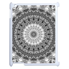 Feeling Softly Black White Mandala Apple Ipad 2 Case (white) by designworld65