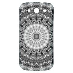 Feeling Softly Black White Mandala Samsung Galaxy S3 S Iii Classic Hardshell Back Case by designworld65