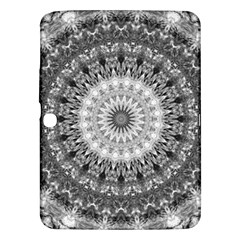 Feeling Softly Black White Mandala Samsung Galaxy Tab 3 (10 1 ) P5200 Hardshell Case  by designworld65