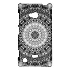 Feeling Softly Black White Mandala Nokia Lumia 720 by designworld65