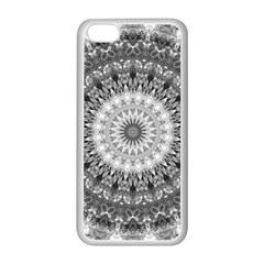 Feeling Softly Black White Mandala Apple Iphone 5c Seamless Case (white) by designworld65