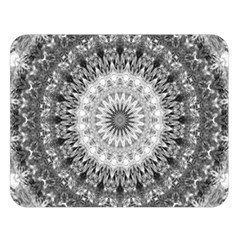 Feeling Softly Black White Mandala Double Sided Flano Blanket (large)  by designworld65