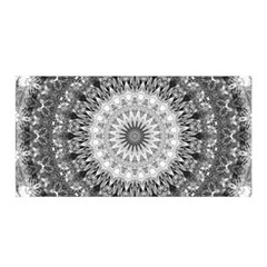 Feeling Softly Black White Mandala Satin Wrap by designworld65
