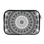 Feeling Softly Black White Mandala Apple MacBook Pro 17  Zipper Case Front