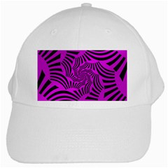 Black Spral Stripes Pink White Cap