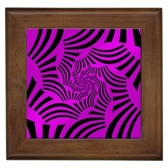 Black Spral Stripes Pink Framed Tiles