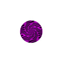 Black Spral Stripes Pink 1  Mini Magnets