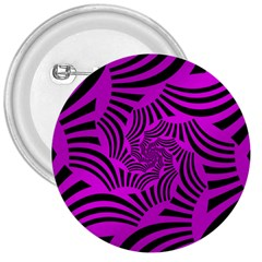 Black Spral Stripes Pink 3  Buttons by designworld65