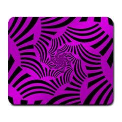 Black Spral Stripes Pink Large Mousepads by designworld65
