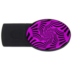 Black Spral Stripes Pink Usb Flash Drive Oval (4 Gb) by designworld65