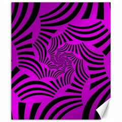 Black Spral Stripes Pink Canvas 20  X 24   by designworld65