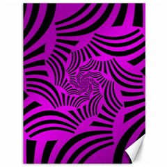 Black Spral Stripes Pink Canvas 36  X 48   by designworld65