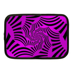 Black Spral Stripes Pink Netbook Case (medium)  by designworld65