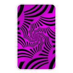 Black Spral Stripes Pink Memory Card Reader by designworld65