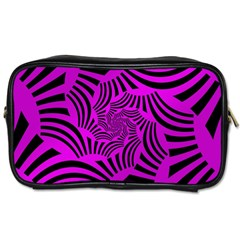 Black Spral Stripes Pink Toiletries Bags by designworld65