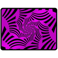 Black Spral Stripes Pink Fleece Blanket (large)  by designworld65