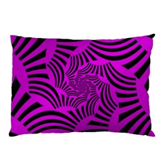 Black Spral Stripes Pink Pillow Case (two Sides) by designworld65