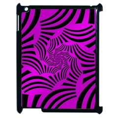 Black Spral Stripes Pink Apple Ipad 2 Case (black) by designworld65