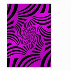 Black Spral Stripes Pink Small Garden Flag (two Sides) by designworld65