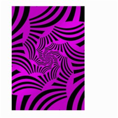 Black Spral Stripes Pink Large Garden Flag (two Sides) by designworld65