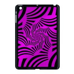 Black Spral Stripes Pink Apple Ipad Mini Case (black) by designworld65